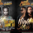 Rak Roots et Arione Joy NIGHT SHOW 2017, Poitiers le dim 16 Avril 2017