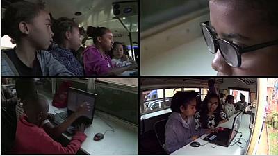 madagascar-Madagascar : une salle informatique dans un bus pour aider la jeunesse à la maitrise de l'outil informatique